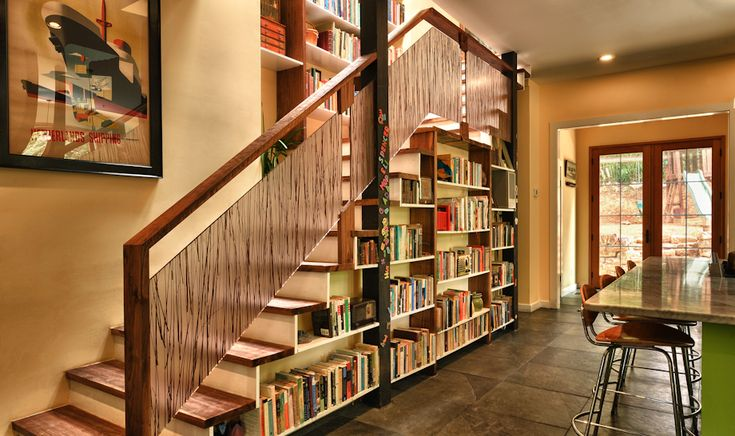 Staircase library -- Hardwick Studios