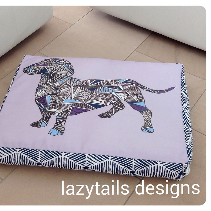 Dachshund design in lilac and navy
