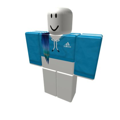Blue Adidas Trackies + Orinthian Extensions - ROBLOX