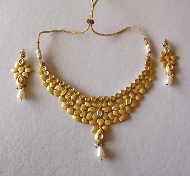 Indian Gold Jewellery Necklace Sets Google Search: Gold Necklace Designs - Google Search