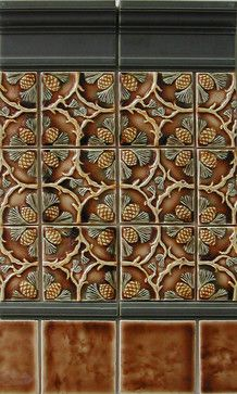 Craftsman Style craftsman kitchen tile. Not sure if I love it... but it's traditional. Nature and earth tones