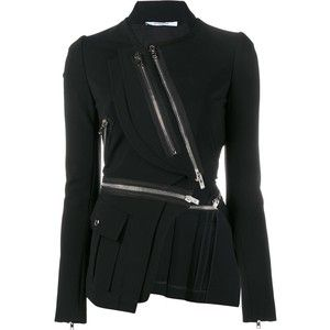 Givenchy asymmetric zip-embellished jacket