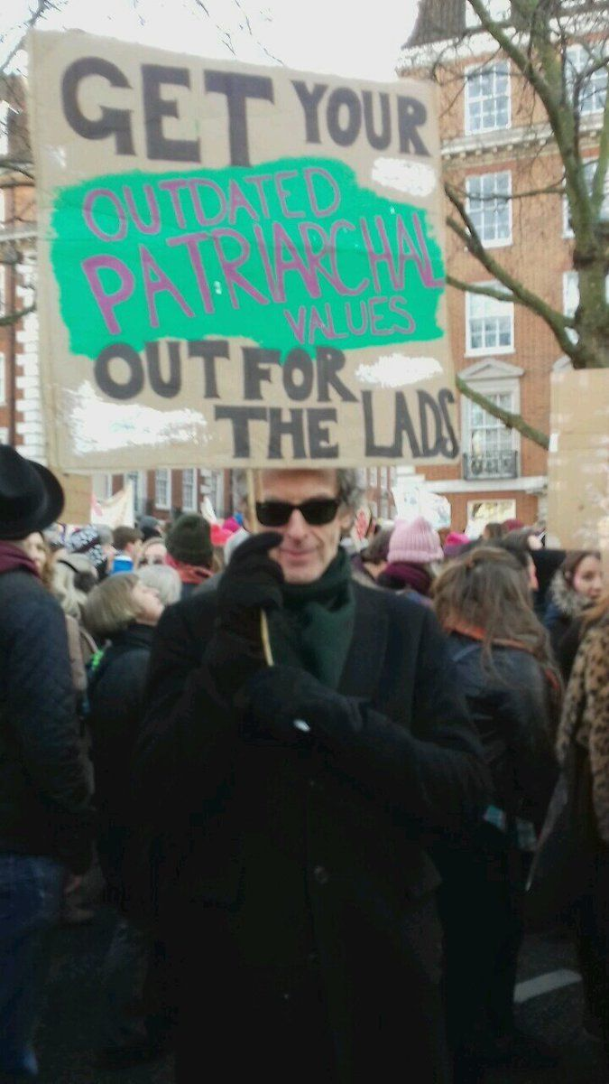 Peter Capaldi aka The Doctor at the Women's March in London!!!