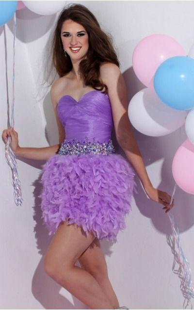 Organza Sweetheart Natural A-line Short Bridesmaid Dresses 0190418