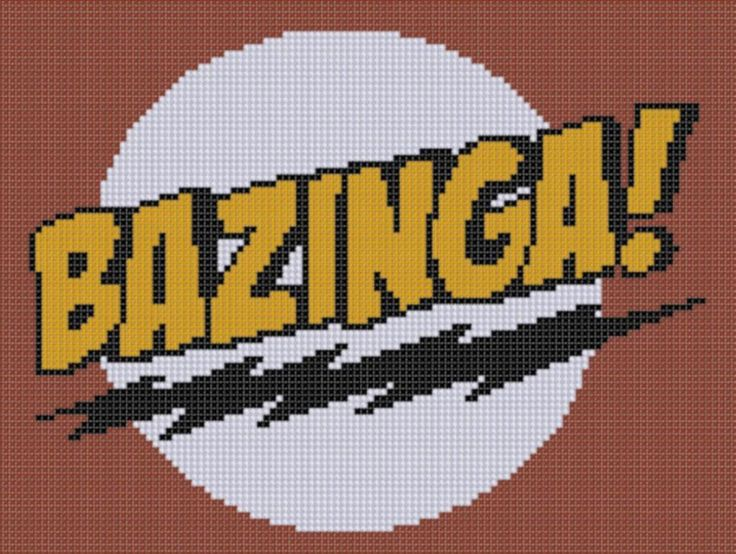 Bazinga 3 Cross Stitch Pattern
