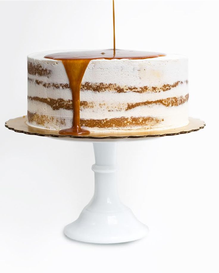 SALTED CARAMEL CAKE WITH BURNT MARSHMALLOW TOPPING RECIPE ~ Best Friends for Frosting