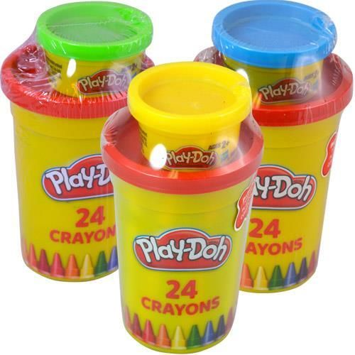 •Includes 24 crayons and  1 Play-Doh  tub •Each Play-Doh tub holds 1 oz. •Ages 2+…
