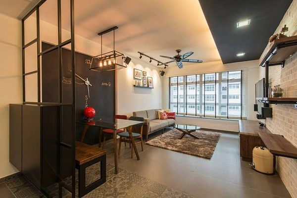 Modern industrial HDB interior design by Dexign & Deals Interior | Home &  Outdoors | Pinterest | Modern industrial, Industrial and Interiors