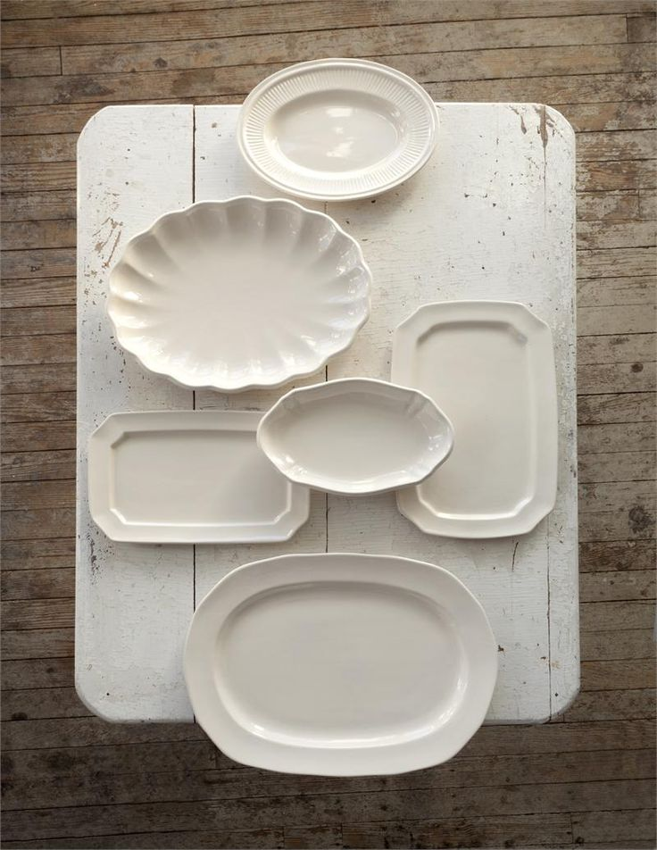 Inspired by flea market finds, this random plate collection includes six antique white platters equally perfect for serving up an eye-catching wall display or the main course at your next special occasion. $108.95