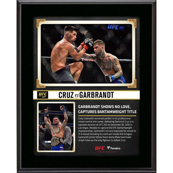 "Cody Garbrandt Ultimate Fighting Championship Fanatics Authentic 10.5"" x 13"" UFC 207 And New Bantamweight Champion Sublimated Plaque - $29.99"