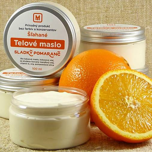 Mydlaren / Šľahané telové maslo: SLADKÝ POMARANČ 100 ml