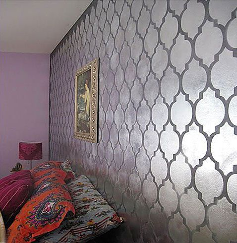 Wall Decoration. Do this on Art Paper Roll and tape to walls. Easy. Cutting Edge Stencils - Casablanca Allover Stencil