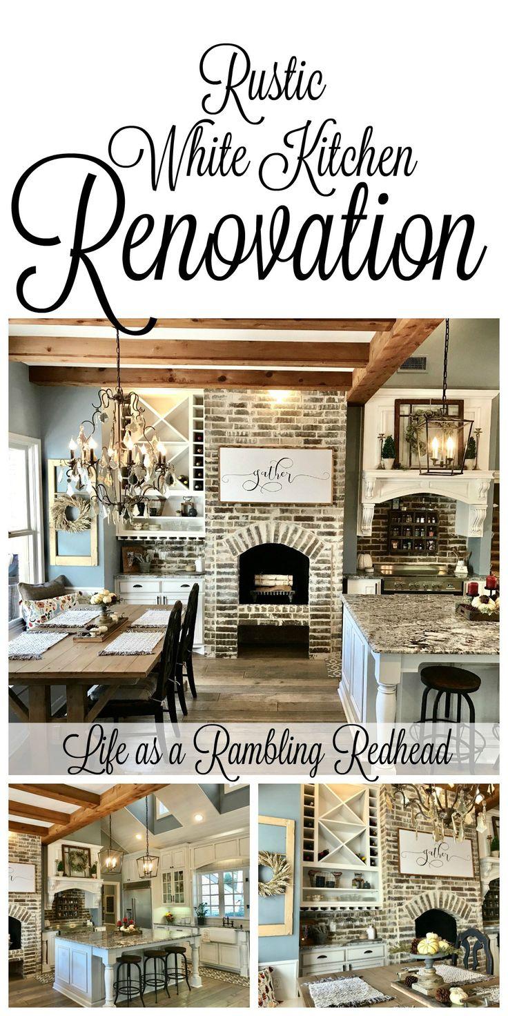 Breathtaking Rustic White Kitchen... so much eye candy! #farmhouse {Life as a Rambling Redhead}