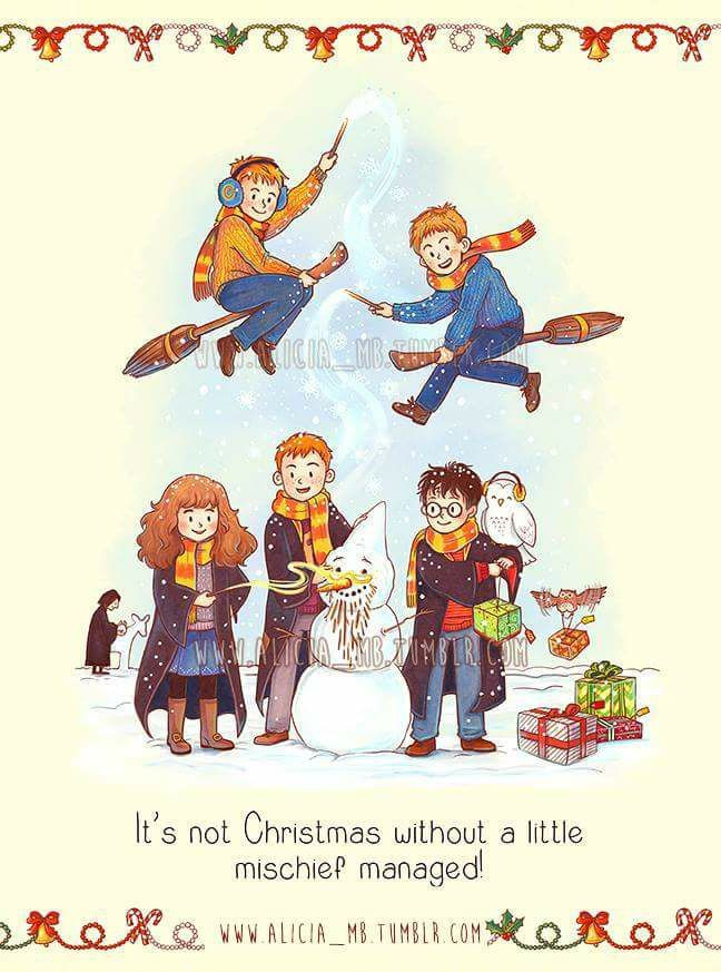 Harry Potter Christmas | Mischief Managed | Ron and Harry and Hermione | Fred and George Weasley