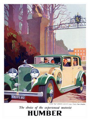 humber snipe art deco motor car advert 1930s by nostalgicphotosandprints, via Flickr