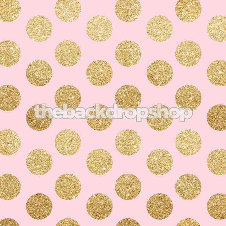 Pink and gold glitter dot backdrop exclusive design for Baby pink glitter wallpaper
