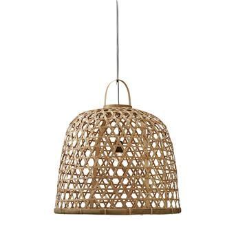 Hal met rieten hanglamp - Shopinstijl.nl