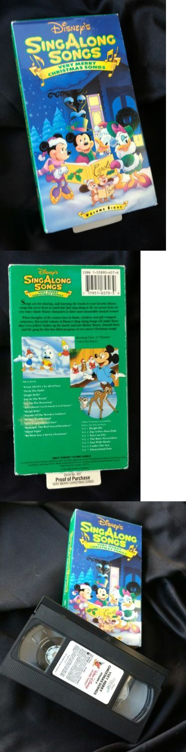Christmas Songs And Album: Very Merry Christmas Songs (Vhs, 1997) Disneys Sing Along Songs BUY IT NOW ONLY: $10.0