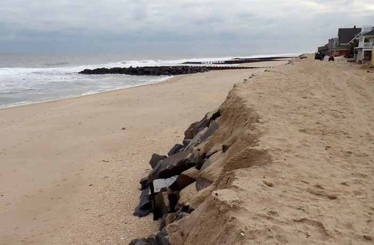 A relic seawall in Bay Head, N.J., dating back to 1882, was uncovered by Hurricane Sandy in October 2012. The forgotten structure staved off a significant amount of property damage.