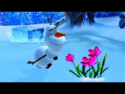 FROZEN SONGS - Olaf Dance techno viking on the ice - Disney Games