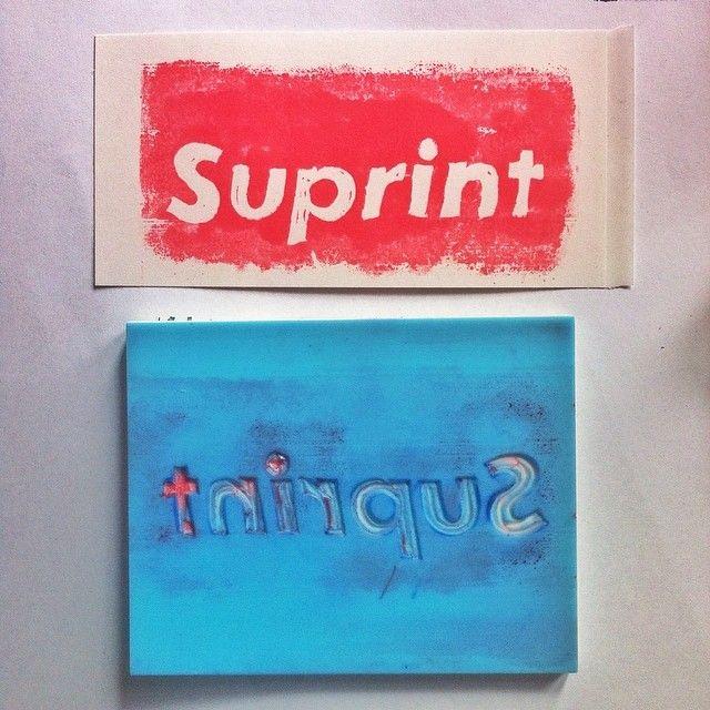 "@pulpmatter's photo: ""stickin these up round the city today. #melbourne #pulpmatter #suprint #stickerart #linocut"""