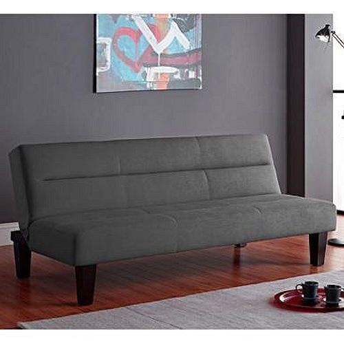 Gray Futon Sofa Bed Convertible Dorm Sleeper Couch Lounger Living Room  Furniture
