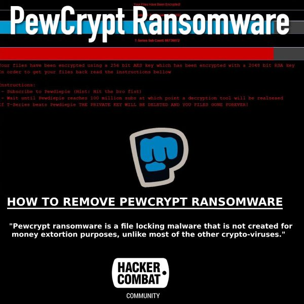How To Remove Pewcrypt Ransomware Security Application Java