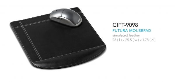 Futura Mousepad 28 ( l ) x 25.5 ( w ) x 1.78 ( d ) simulated leather