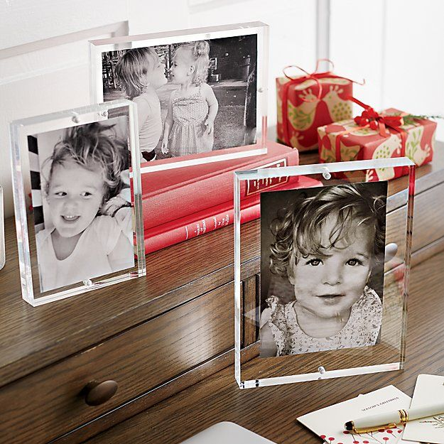 Acrylic 8x10 Block Picture Frame Crates Barrels And Display
