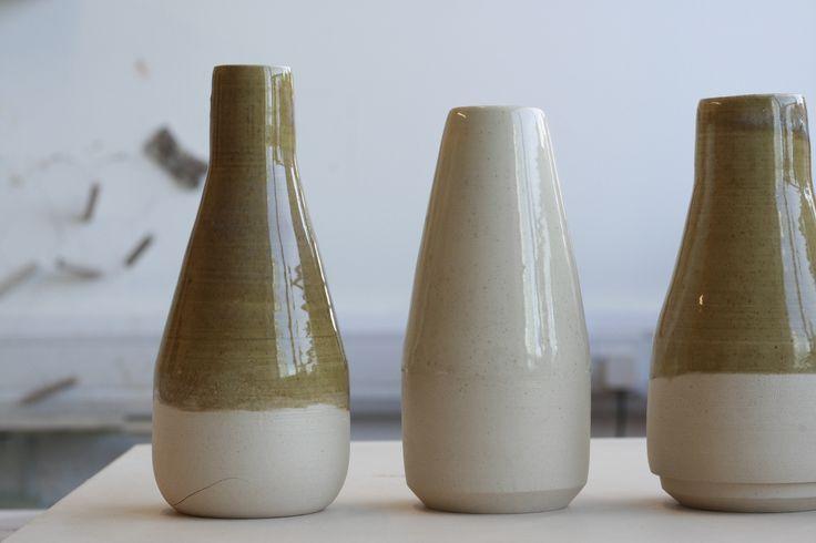 Ceramic bottle decanter prototypes