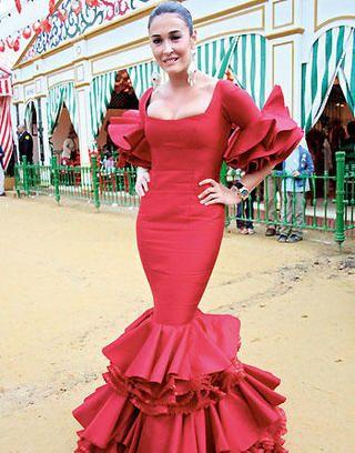 vestidos de flamenca rojo - Buscar con Google