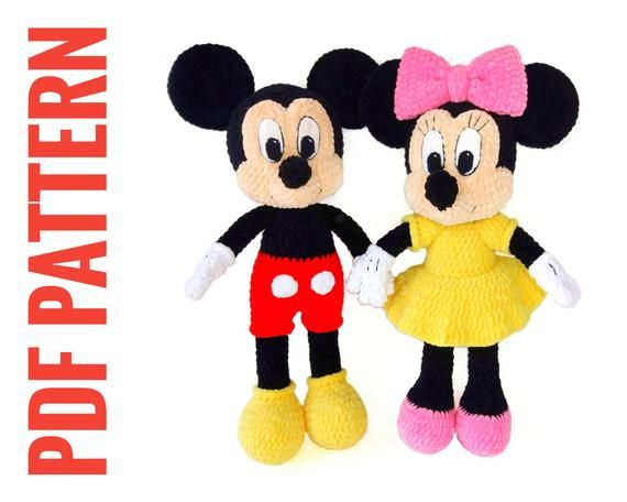 Patrón Mantita de Apego Mickey - Minnie Mouse - Patrones gratis   456x570