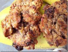 Suikervrije pindakaas-banaan-havermout koekjes