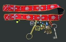 Female belt made of woolen cloth and reindeer skin, with pendants. Saami. Murmansk District. 1928-1929