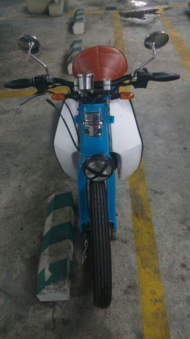 My Sky Blue Streetcub front view