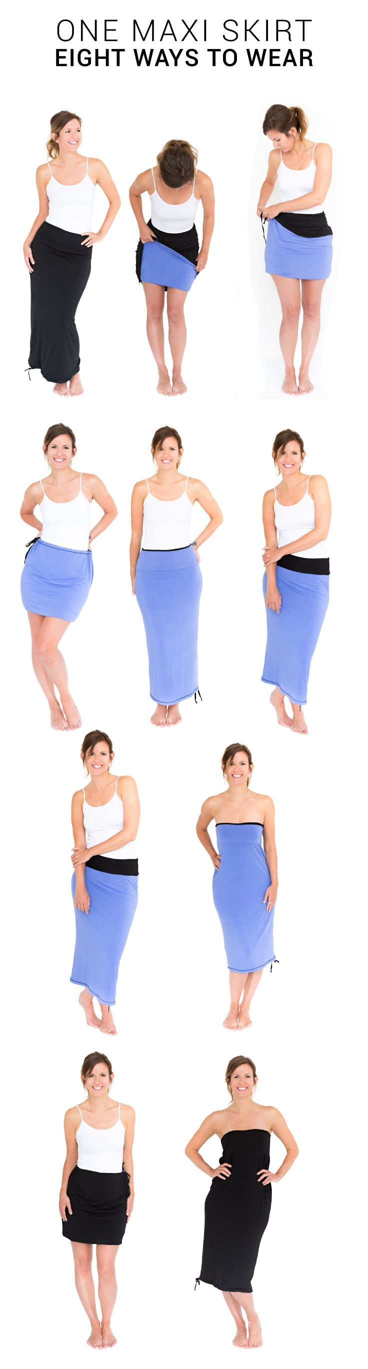 how to wear a maxi skirt in spring
