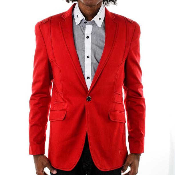 Slim Fit Blazer Red