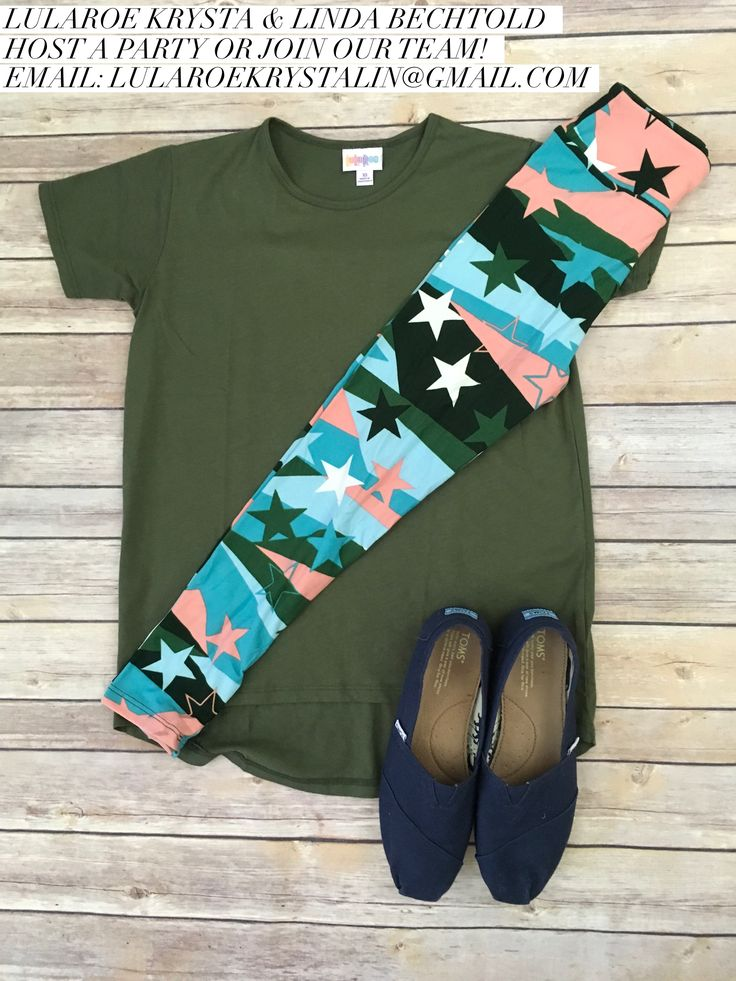 LuLaRoe Outfit Gracie Tee and Leggings. LuLaRoe Style. Flat Lay Photo. Spring Style.