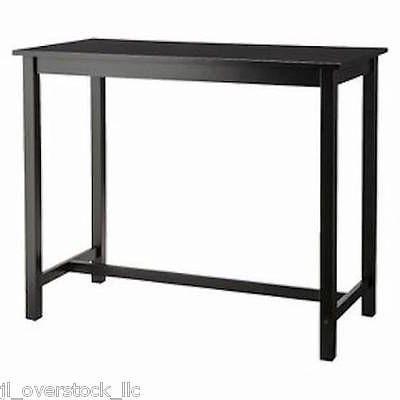 Target Hardwood Counter Height Pub Table - Black - NEW