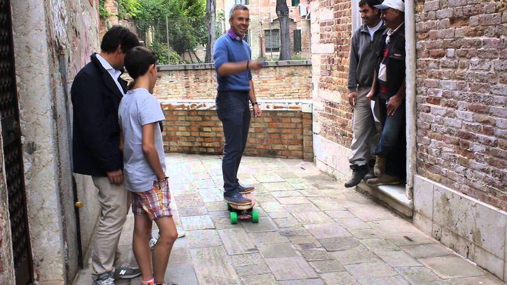 Лонгборд на пульте Путешествия по Италии Electro longboard