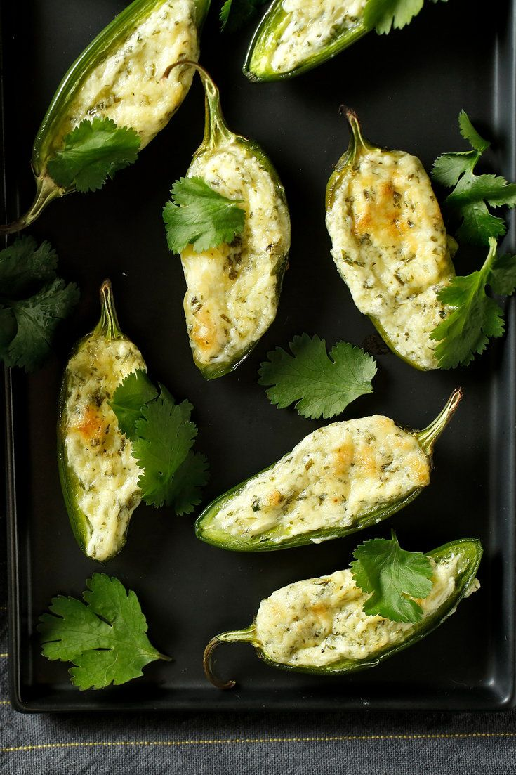 As a game-day snack, they cannot be beat Stuffed jalapeños, filled with Cheddar and cream cheese and run through with cilantro, are roasted to sweet intensity in the oven and finished under the broiler or in the dying light of a grill's fire Consume with beer in advance of a plate of chicken wings, or a nap.