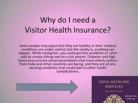 What is a Visitor Health Insurance?