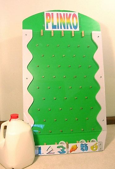 "New Portable Plinko Game for Trade Shows, Carnivals, Parties etc., 31.5"" x 18"" on Etsy, $99.50"