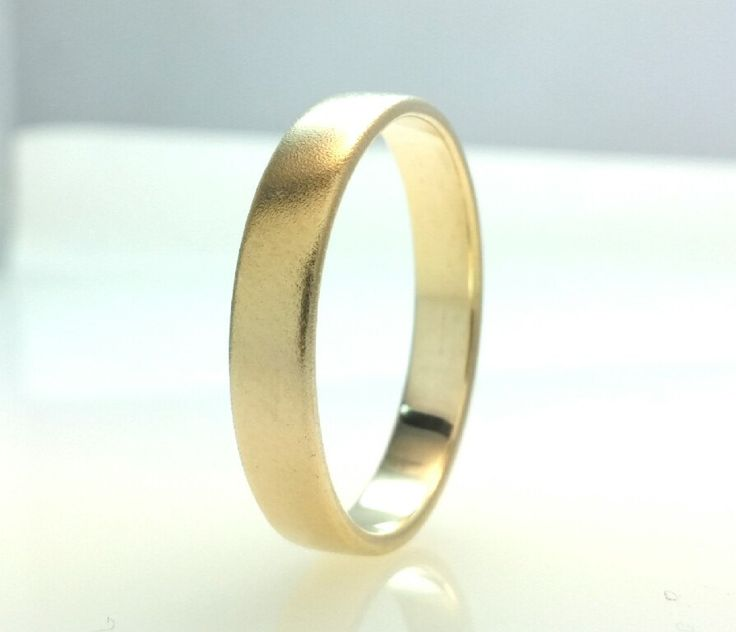 Recycled 14k Gold Wedding Band Ring,Hard Matte Polish Gold,4mm Wedding Ring, Eco Friendly,Handmade Wedding Ring,All Sizes One Price by Vaptism on Etsy