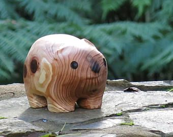 wombat from japanese cedar by Bushwood creations
