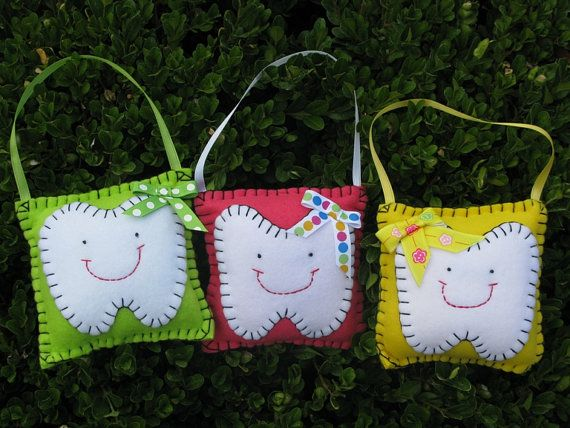 Tooth Fairy Pillow by LaughRabbitJr on Etsy