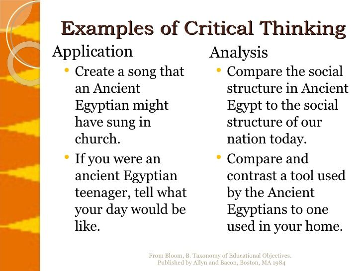 Examples Of Critical Thinking Critical Thinking Critical Thinking Questions Essay Outline