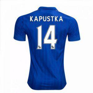 16-17 Leicester City Cheap Home Kapustka #14 Replica Football Shirt [I00303]