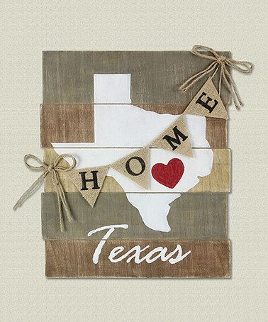 Look what I found on #zulily! 'Texas' Wood Slat Wall Art #zulilyfinds