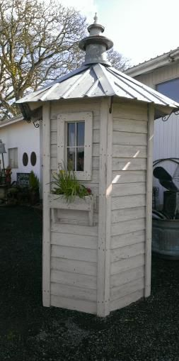 A small and tall one, just for shovels, rakes, etc... the long tool storage shed